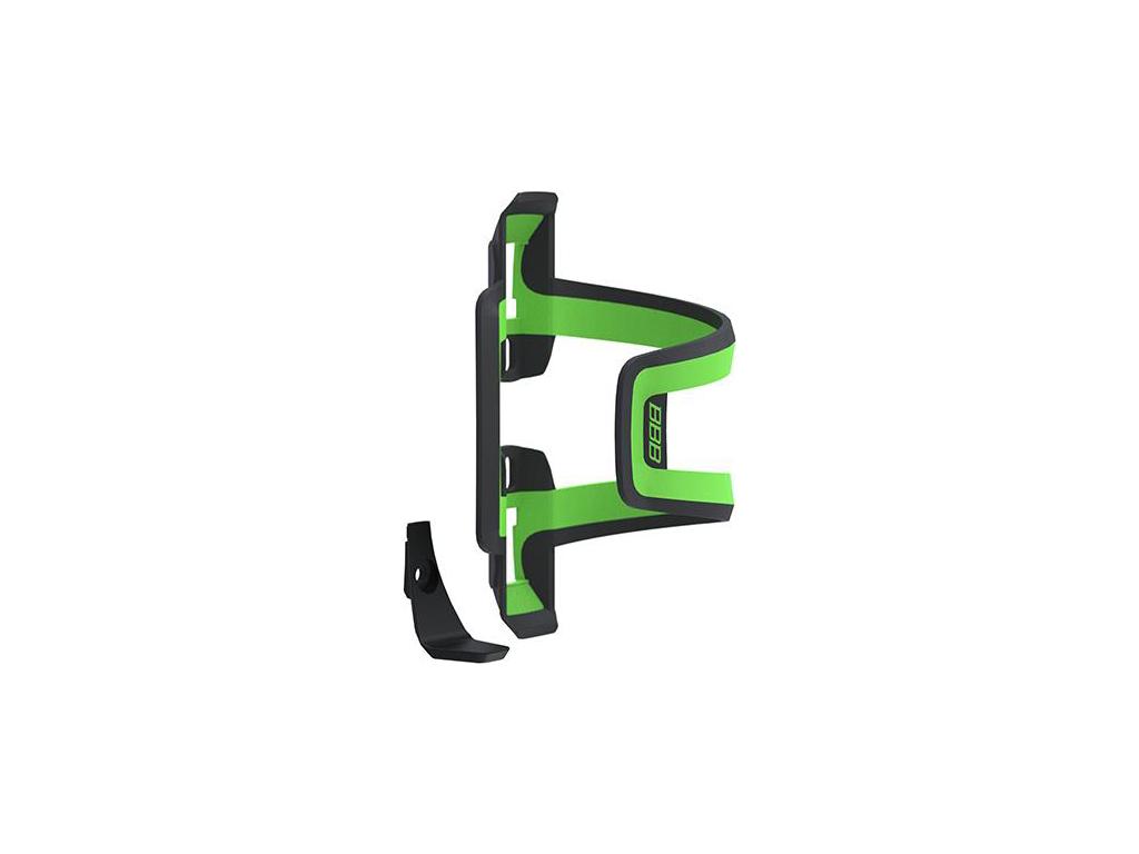 Image of   BBB - Dualattack - Flaskeholder - Universal højre/venstre - Sort/grøn
