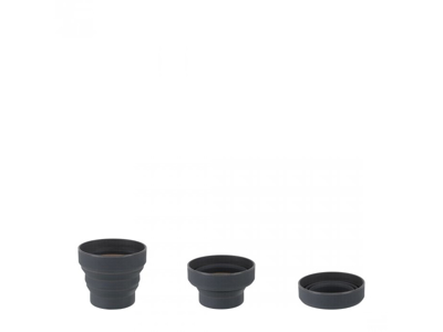 LifeVenture Ellipse Collapsible Cup - Silicone - Gråsort