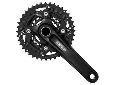 Shimano - Kranksæt FC-MT500 - 3x10 gear 40-30-22  tands - 175 mm pedalarme