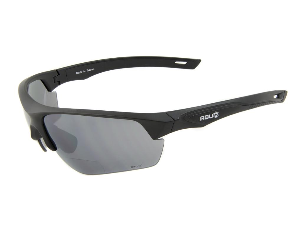 AGU Medina Bifocal - Cykelbrille med læsefelt og 3 sæt linser - Sort - +1.50 thumbnail