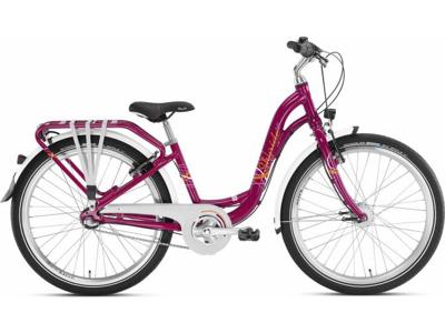 """Puky - Pigecykel - Skyride 24-3 Alu light - 24"""" med 3 gear - Kirsebær"""