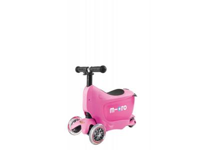 Micro Mini2Go - Sparkcykel/Scooter - Rosa