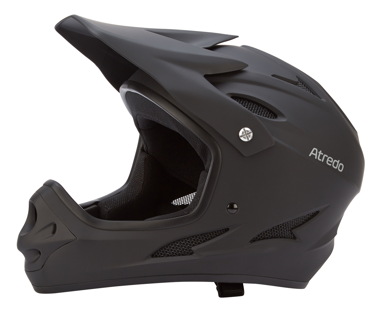 Atredo - Skull - Hjelm - Fullface - Matsort   Helmets