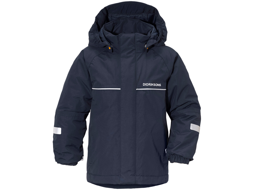 Image of   Didriksons Idde Kids Jacket - Vandtæt børnejakke m. for - Navy - Str. 100