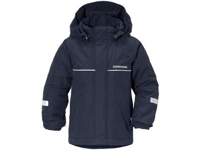 Didriksons Idde Kids Jacket - Vandtæt børnejakke m. for - Navy