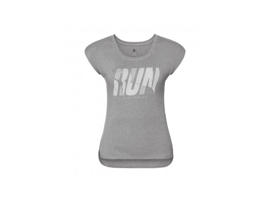 Odlo Tebe - Løbe t-shirt - Dame - Grå melange