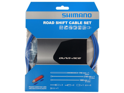 Shimano Dura Ace Gear Set - Road Polymer - Front and Baker Switches Complete - Blue
