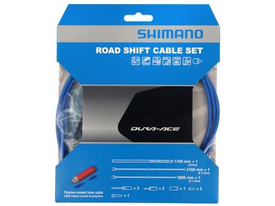 Shimano Dura Ace gearkabelsæt - Road Polymer - For-og bagskifter kabel komplet - Blå