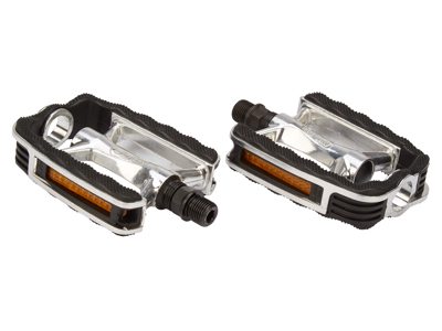 "Atredo - Pedal - Sport - 9/16"" - Aluminium silver/svart"