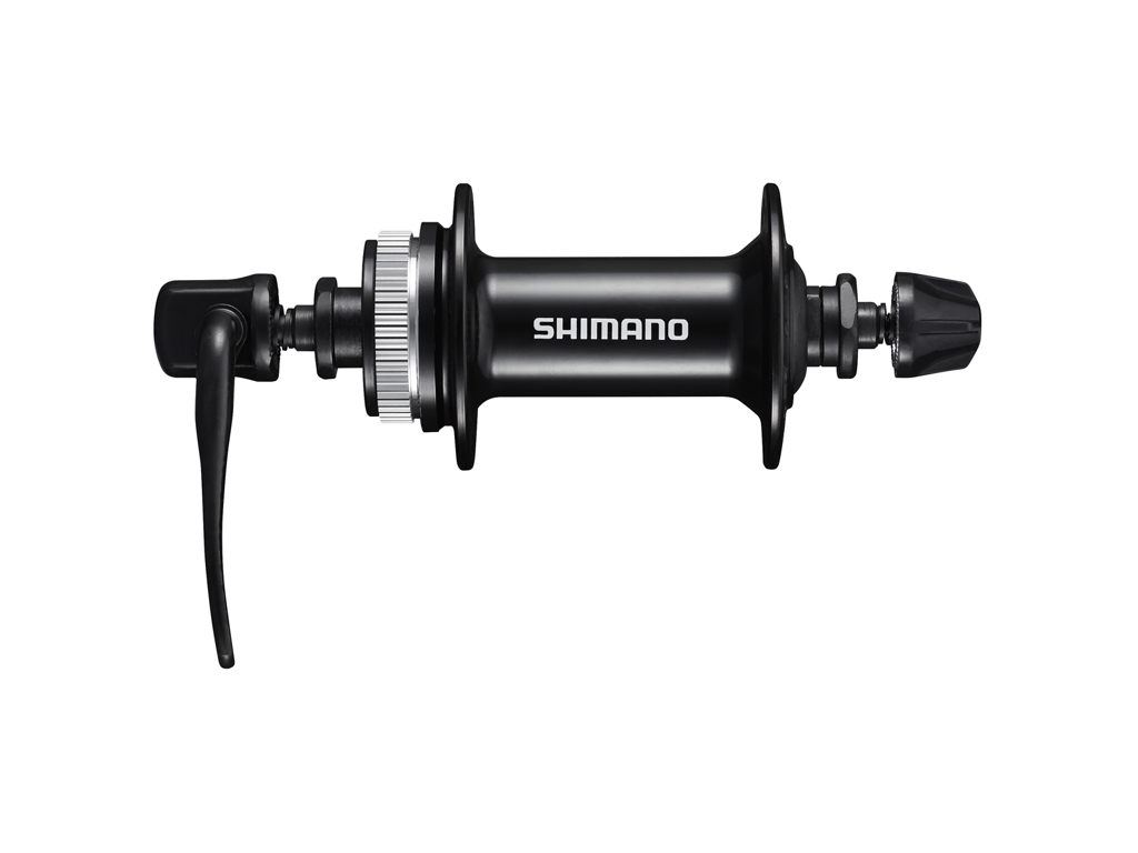 Shimano Altus - Fornav QR - HB-MT200 - Disk center lock - Sort - Til 32 eger