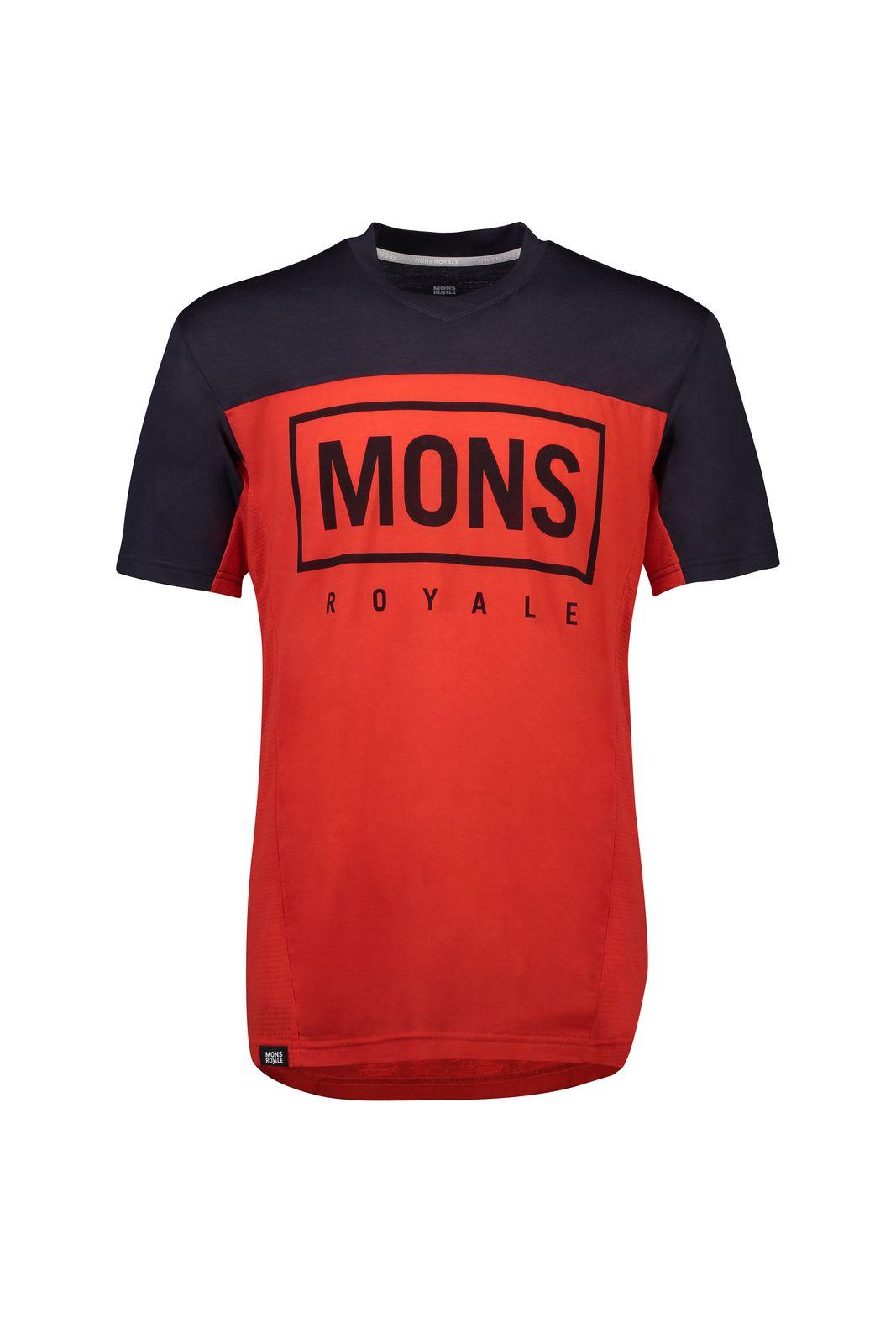 MONS ROYALE Redwood Enduro VT - Cykeltrøje - Rød/Blå | Jerseys