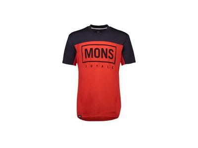 MONS ROYALE Redwood Enduro VT - Cykeltröja - Röd / blå