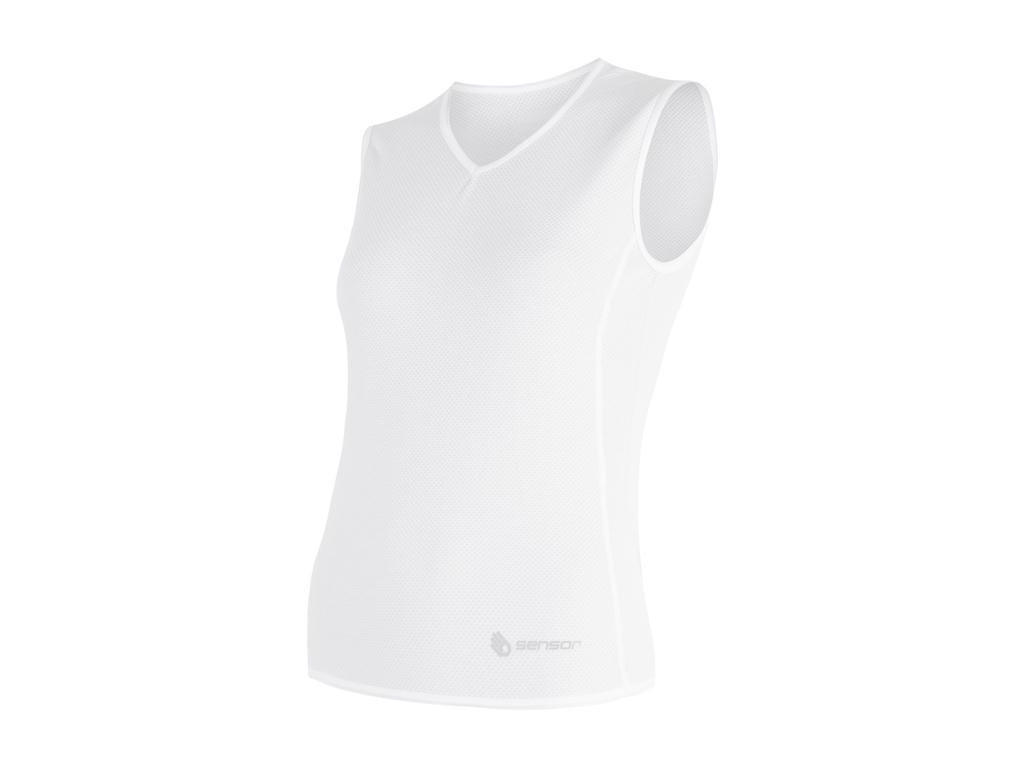 Sensor Coolmax Fresh AIR - Svedundertrøje uden ærmer til damer - Hvid - Str. M thumbnail