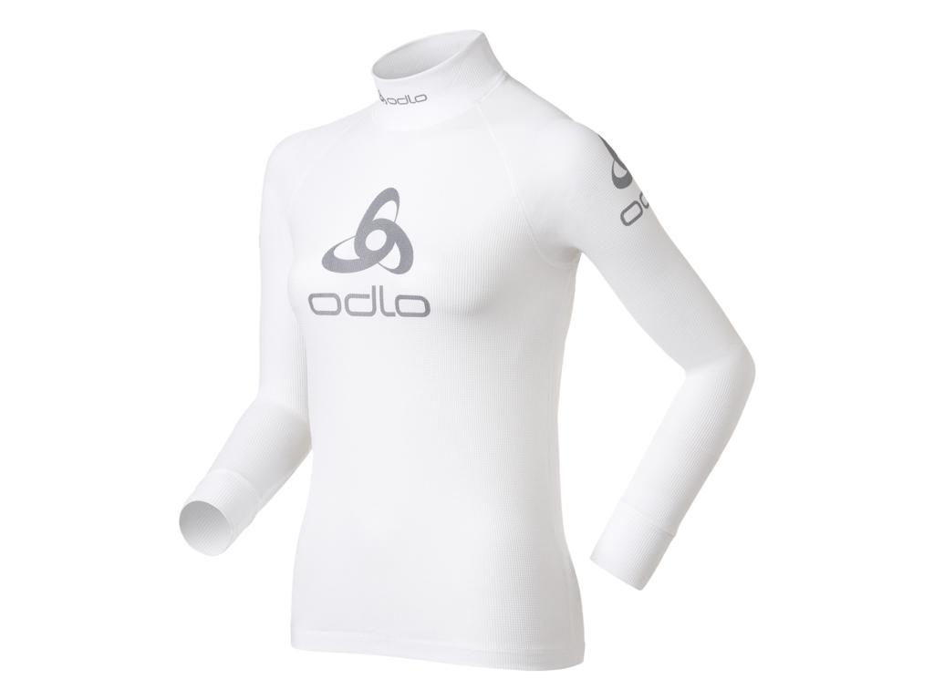 Image of   Odlo - Shirt l/s crew neck logo line - Løbebluse - Dame - Hvid - Str. L