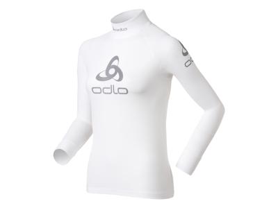 Odlo Shirt l/s Crew Neck Logo Line - Løbebluse - Dame - Hvid