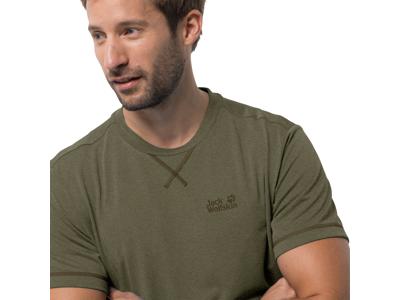 Jack Wolfskin Crosstrail T - T-Shirt - Herre - Armygrøn