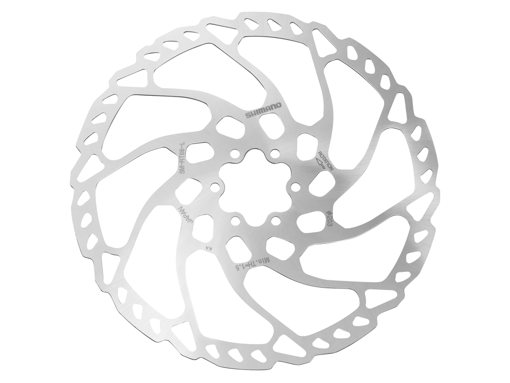 Image of   Shimano LX/Deore - Rotor for skivebremser 203mm 6 bolt
