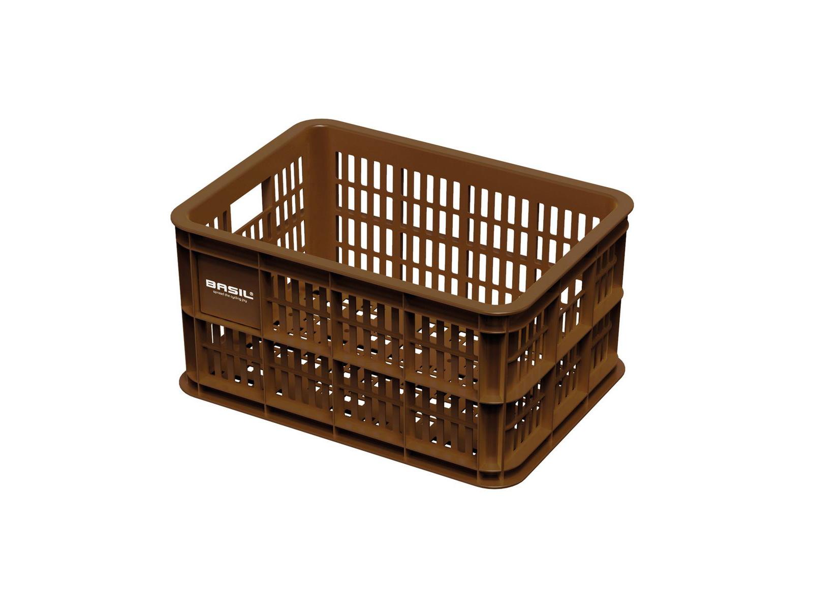 Picture of: Basil Crate S Plast Kurv Til Opbevaring Eller Bagagebaerer Saddle Brown Dkk 99 00