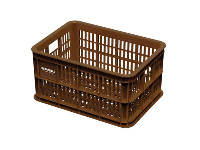 Basil Crate S - Plastkorg - Till förvaring eller pakethållare - Saddle brown