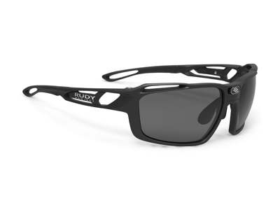 Rudy Project Sintryx - Løbe- og cykelbrille - Smoke linser - Mat Sort