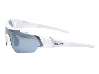 BBB - Løbe- og cykelbrille Summit - 3 sæt linser - Hvid
