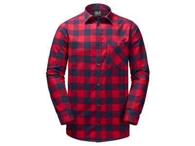 Jack Wolfskin Red River Shirt - Skjorte herre - Tern Rød