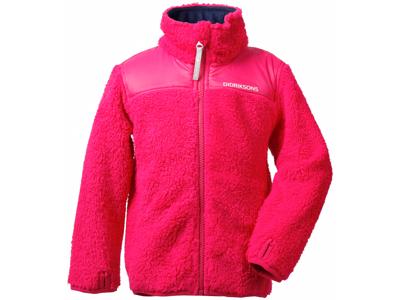 Didriksons Geite Kids Pile Jacket - Fleecejakke Børn - Pink