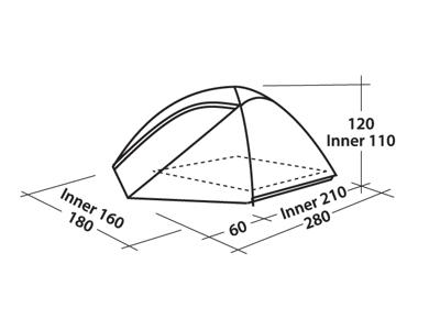 Easy Camp Telt Meteor 300 - Telt - 3 Personer - Grøn