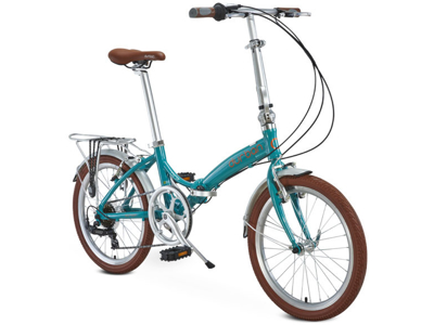 "Durban Rio UP - 20"" Foldecykel med 7 Shimano gear - Turkis"