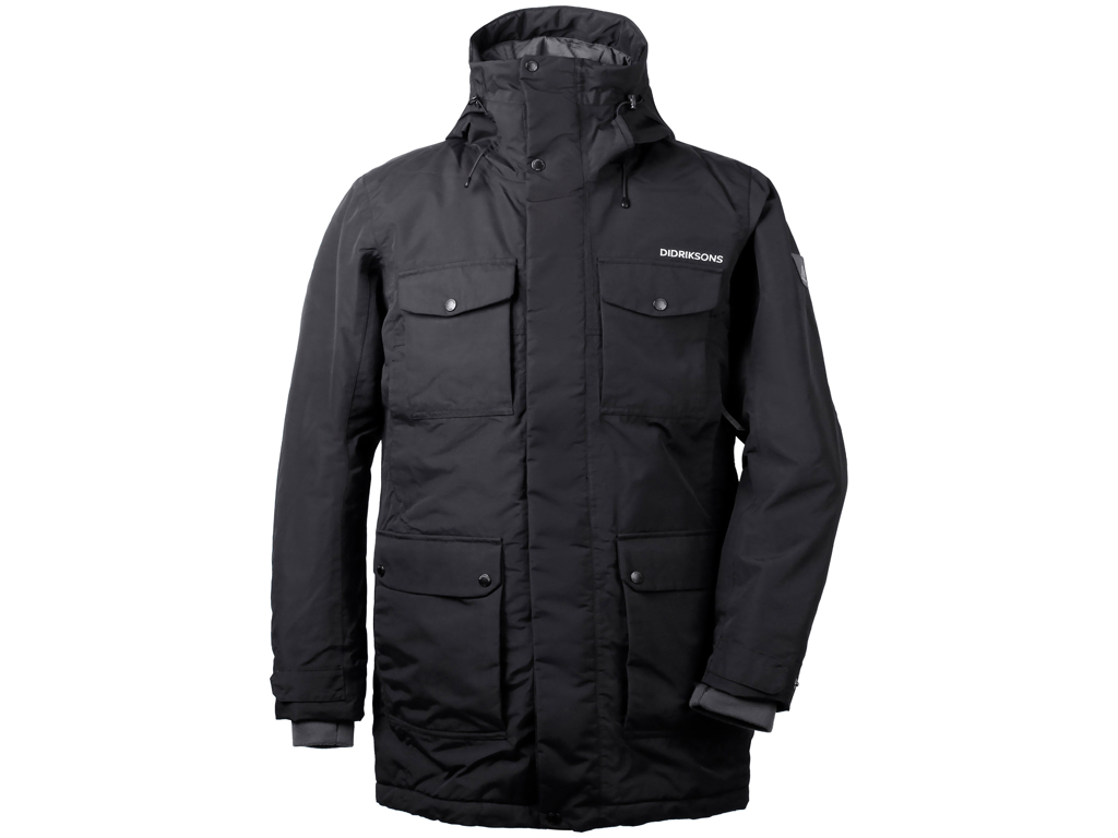 Image of   Didriksons Drew Mens Parka - Vandtæt herrejakke m. for - Sort - Str. M