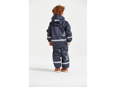 Didriksons Boardman Kids Set - Fleeceforet regntøj - Navy