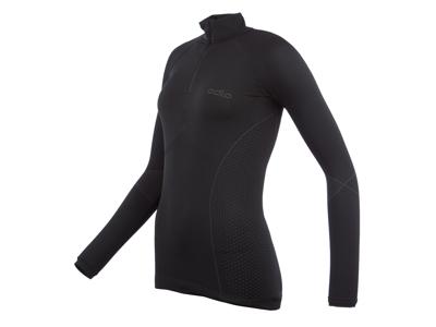 Odlo 1/2 zip Evolution warm - Langærmet bluse til dame - Sort