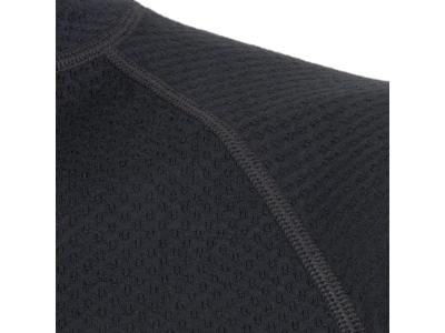 Sensor Merino DF Tee LS Zip - Uldundertrøje m. høj hals- Herre - Sort