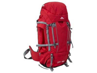 Trespass Trek 66 - Vandraryggsäck - 66 liter - Röd