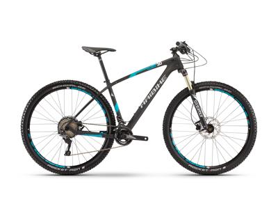 "Haibike Greed HardNine 3.0 - Carbon MTB - 29"" - Matsort/blå/hvid - 22 gear"