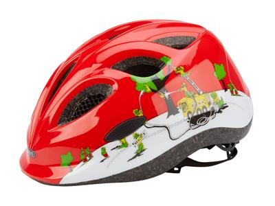 Cykelhjelm Abus Smiley rød/hvid croco fire
