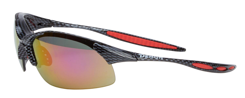 Demon 832 DCHANGE - Løbe- og cykelbrille med 3 linser, carbon look   Glasses