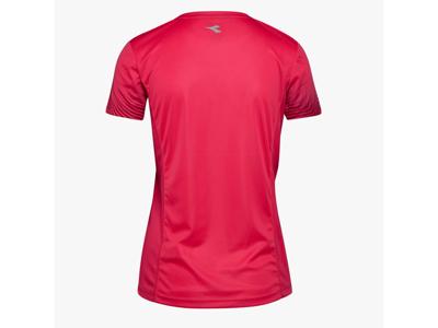 Diadora L. X-Run SS T-Shirt - Løbe t-shirt - Dame - Rød
