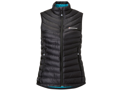 Montane Womens Featherlite Down Vest - Dunvest - Dame - Sort - Str. 36