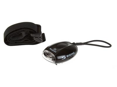 Forlygte Sigma MicroLight II Sort inklusiv batterier