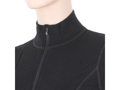 Sensor Merino DF Tee LS Zip - Uldundertrøje m. høj hals- Dame - Sort