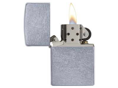 Zippo Street Chrome - Lighter - Patineret krom