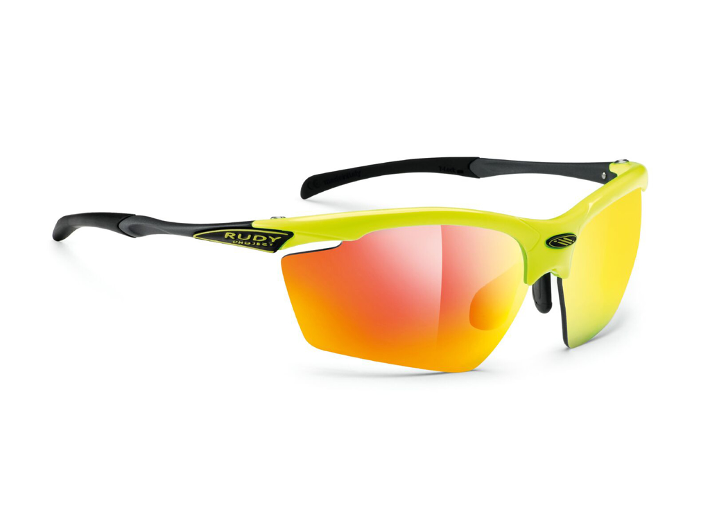 Image of   Rudy Project Agon - Løbe- og cykelbrille - Multilaser Orange linser - Yellow Fluo