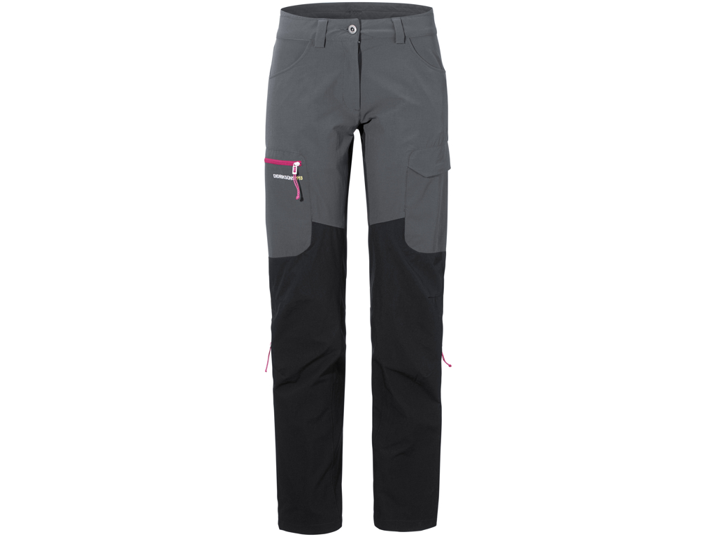 Image of   Didriksons Sabine Womens Pants - Softshellbukser Dame - Grå/Sort - 44