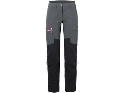 Didriksons Sabine Womens Pants - Softshellbukser Dame - Grå/Sort - 38