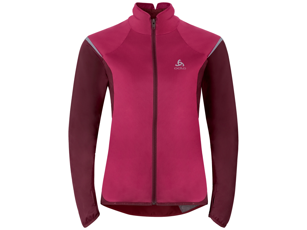 Image of   Odlo Zeroweight - Softshell/jersey jakke til dame - Bordeaux - Str. XL