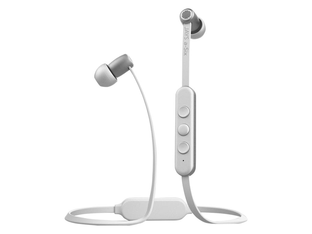Billede af Jays a-Six Wireless - Trådløse høretelefoner - Hvid/sølv