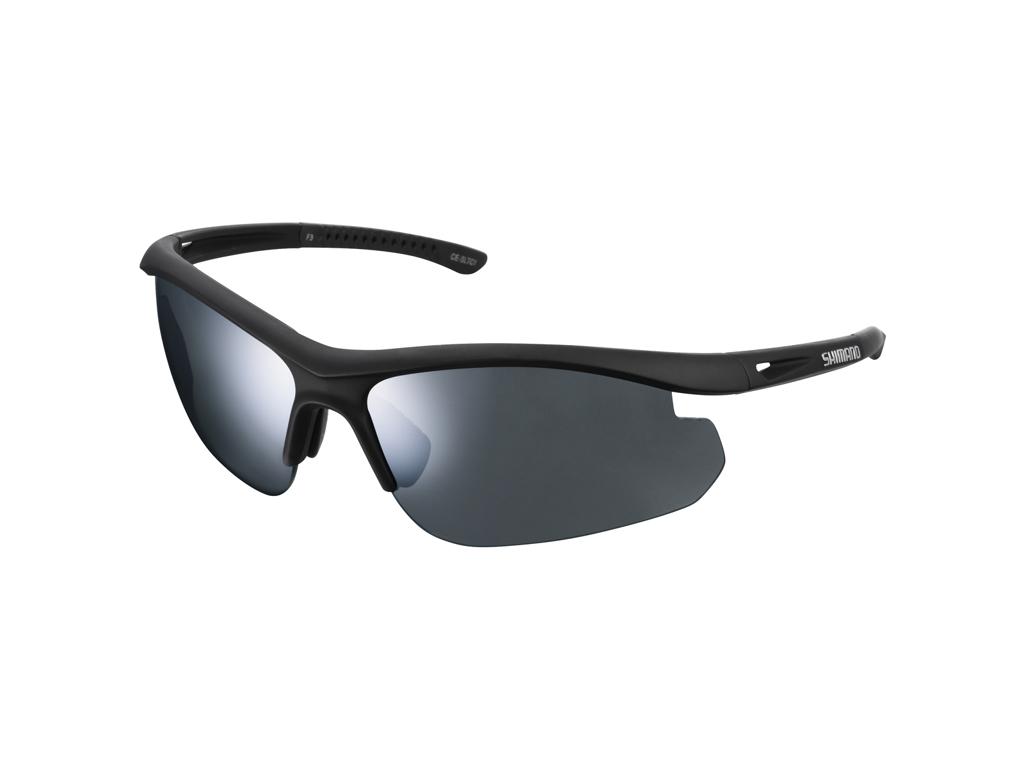 Image of   Shimano Cykelbriller - Solstice SLTC1 - med 2 linse farver - Matsort