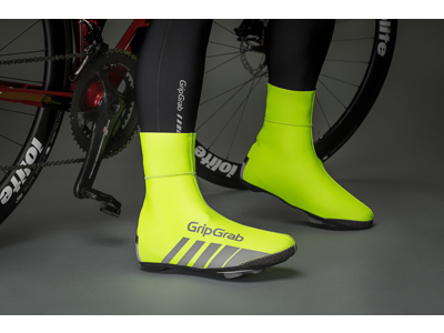 GripGrab Race Thermo Hi-Vis - Vind og vandtæt skoovertræk - Neon gul