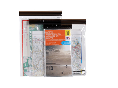 LifeVenture DriStore LocTop Bags - Vattentät kartpåse - 3 st